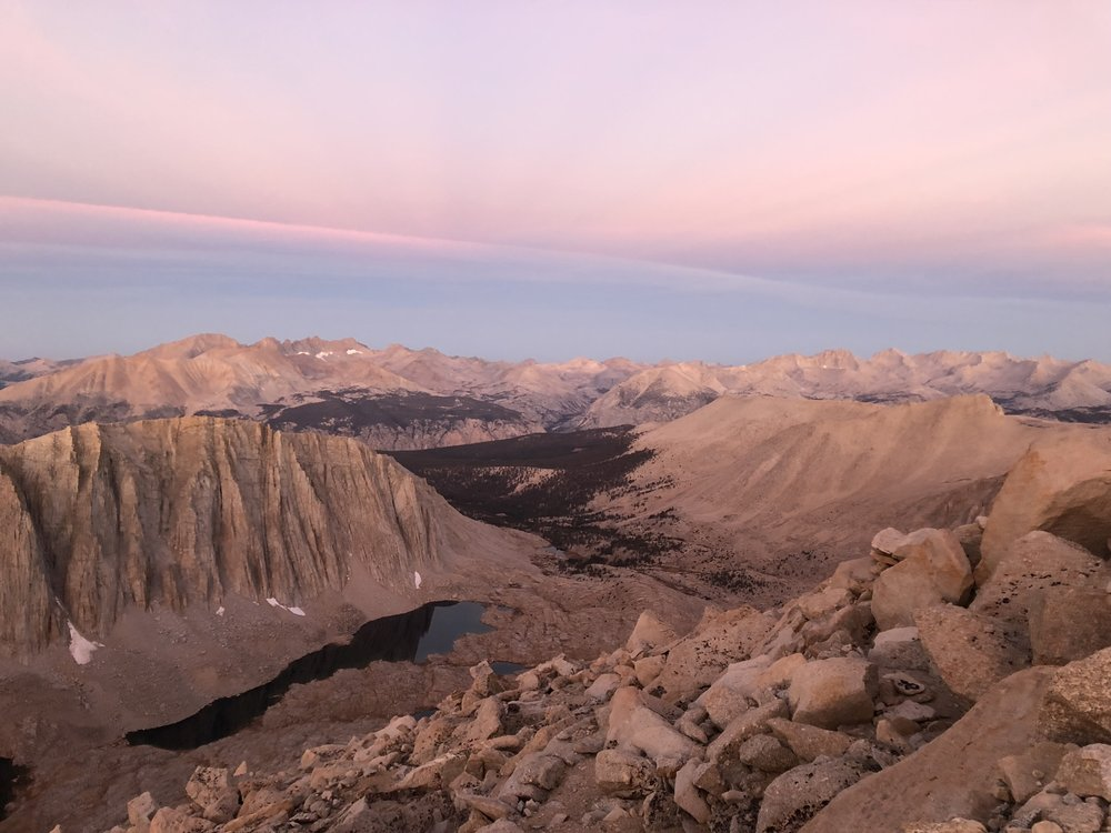 Sunrise from Trail Crest