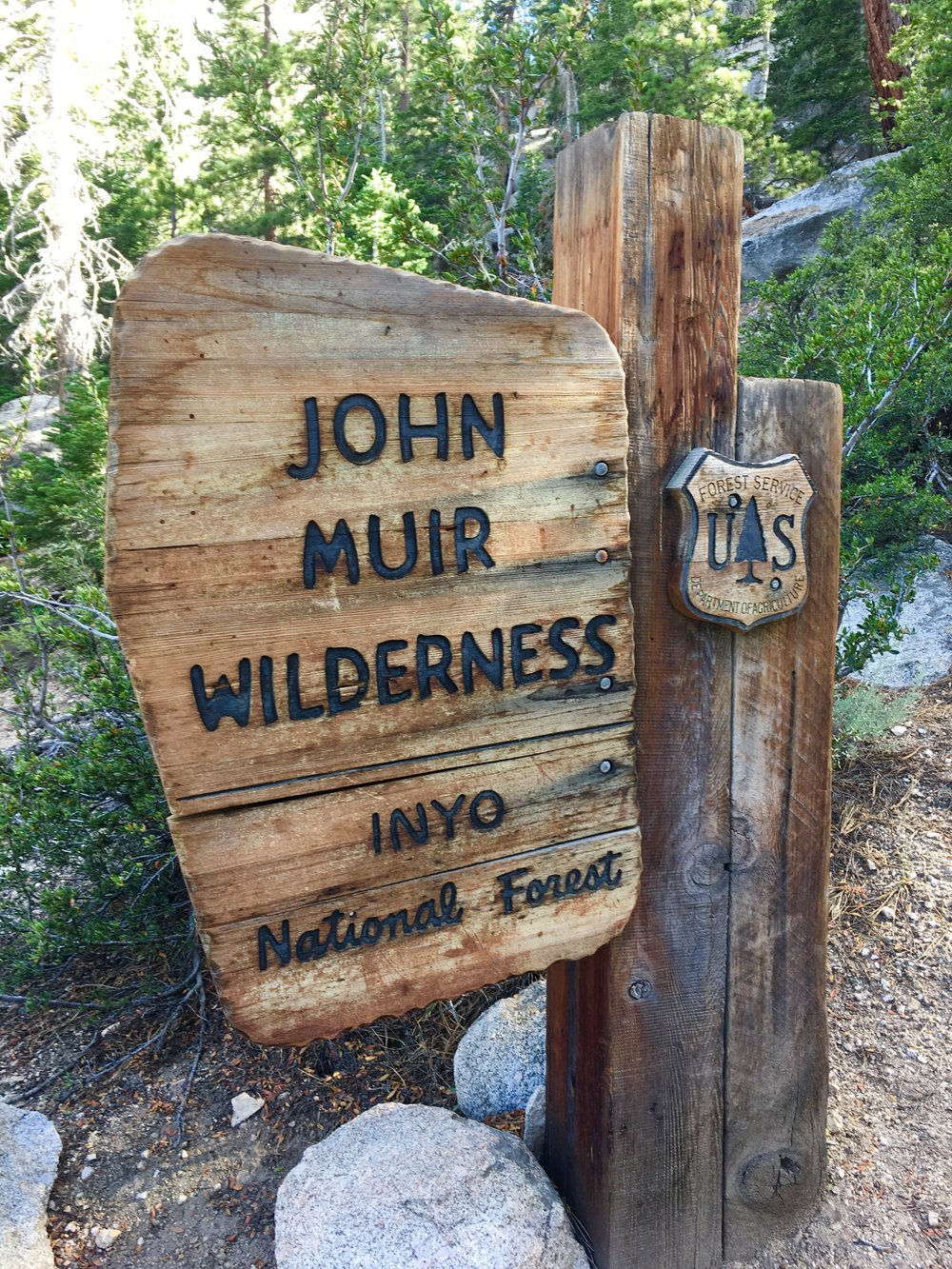 John Muir Wilderness sign on the trail