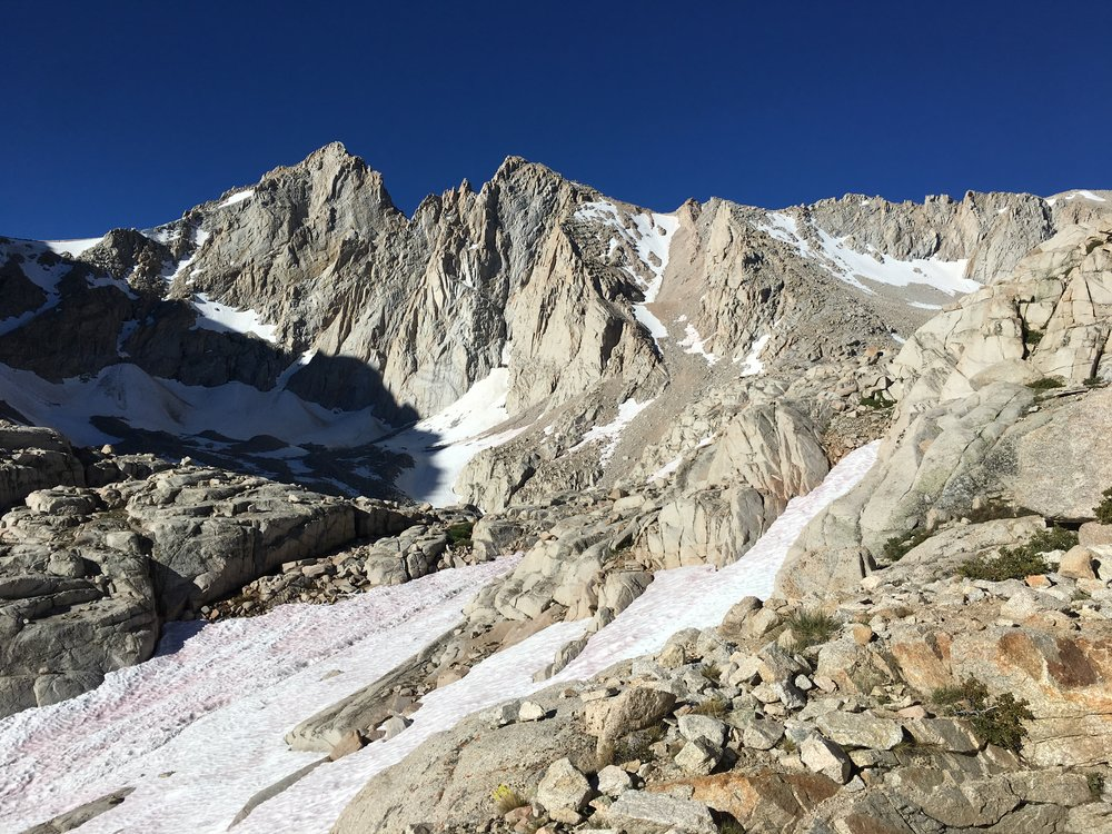 Snow on the trail late July 2017