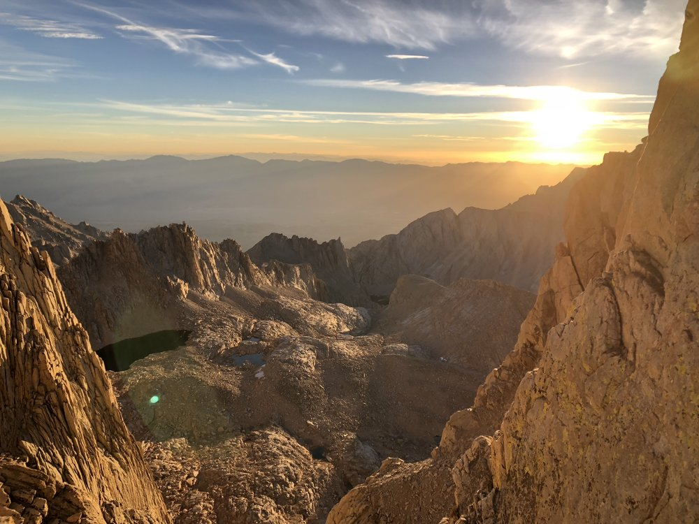 Sunrise on the last stretch before the summit