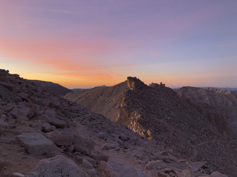 Sunrise behind Mt. Whitney