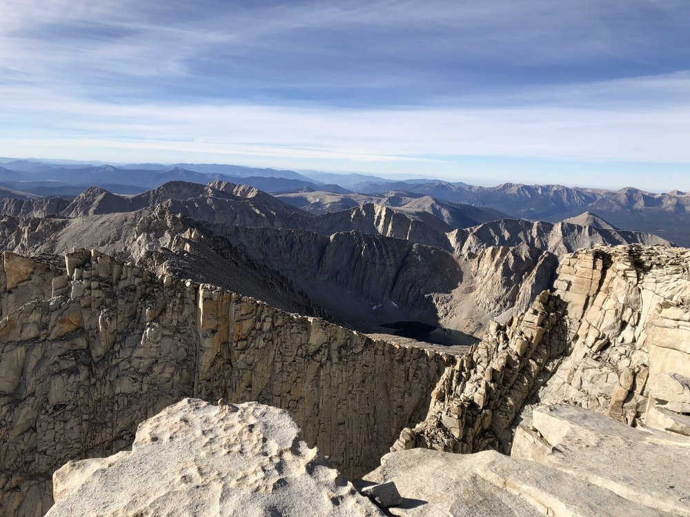 View from the top of 14,505 feet