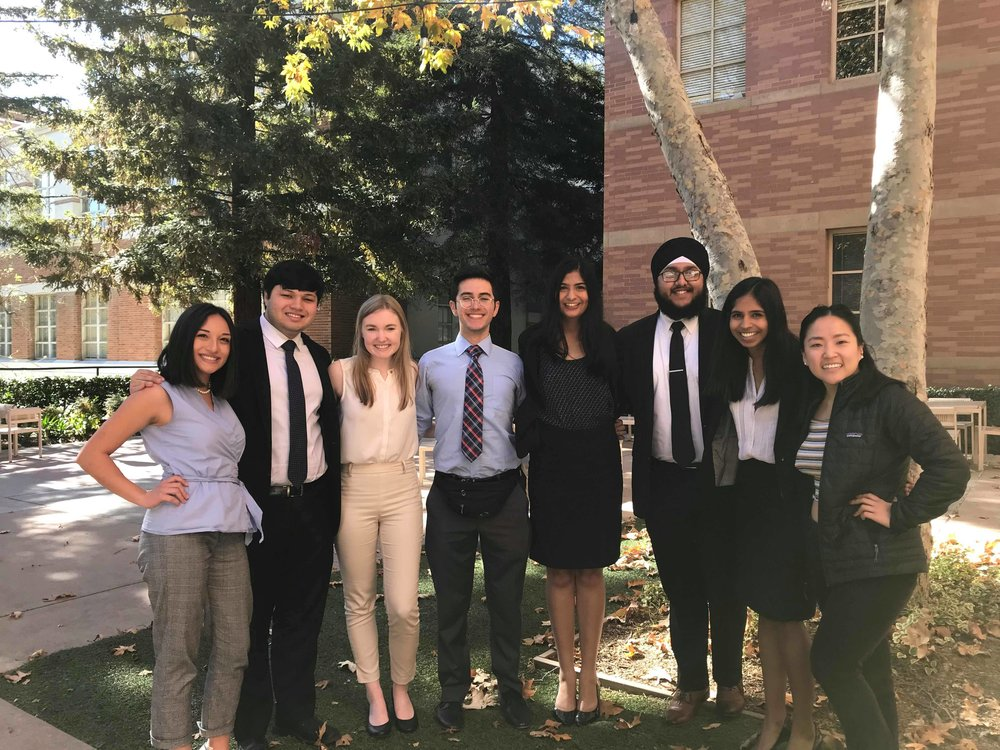 UCLASSIC (1/19-1/21) - Our team drove down to sunny Los Angeles for UCLA's UCLASSIC Invitational. At UCLASSIC, Berkeley A won 6th place with a record of 5.5 wins! Berkeley B finished the tournament with a record of 3.5 wins. Congrats to Smita Balaji for her Outstanding Attorney Award (17/20 ranks) and to Gurbir Singh for his Outstanding Witness Award (18/20 ranks).