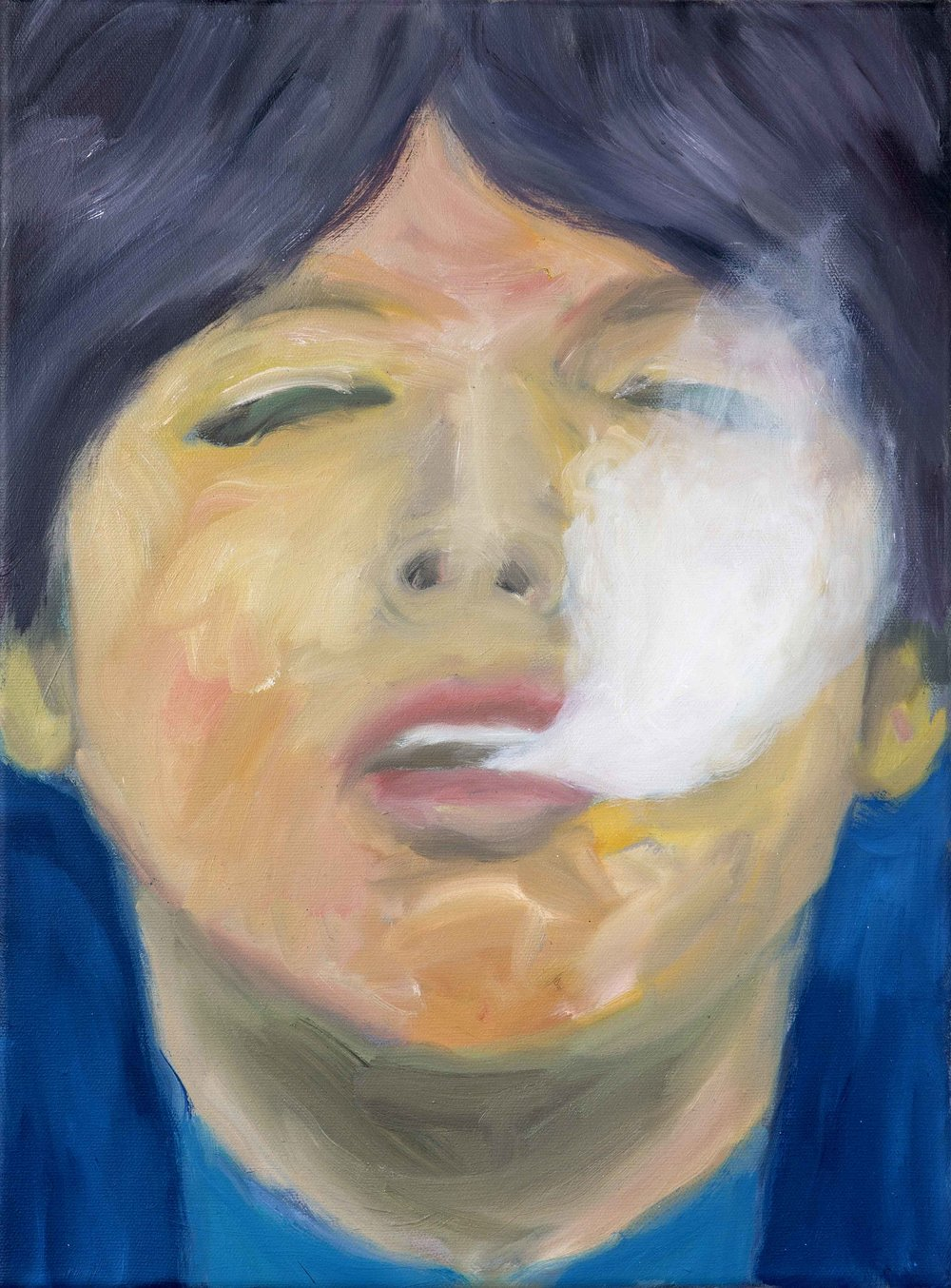 Smoke   2012  oil on canvas  30 x 40 cm