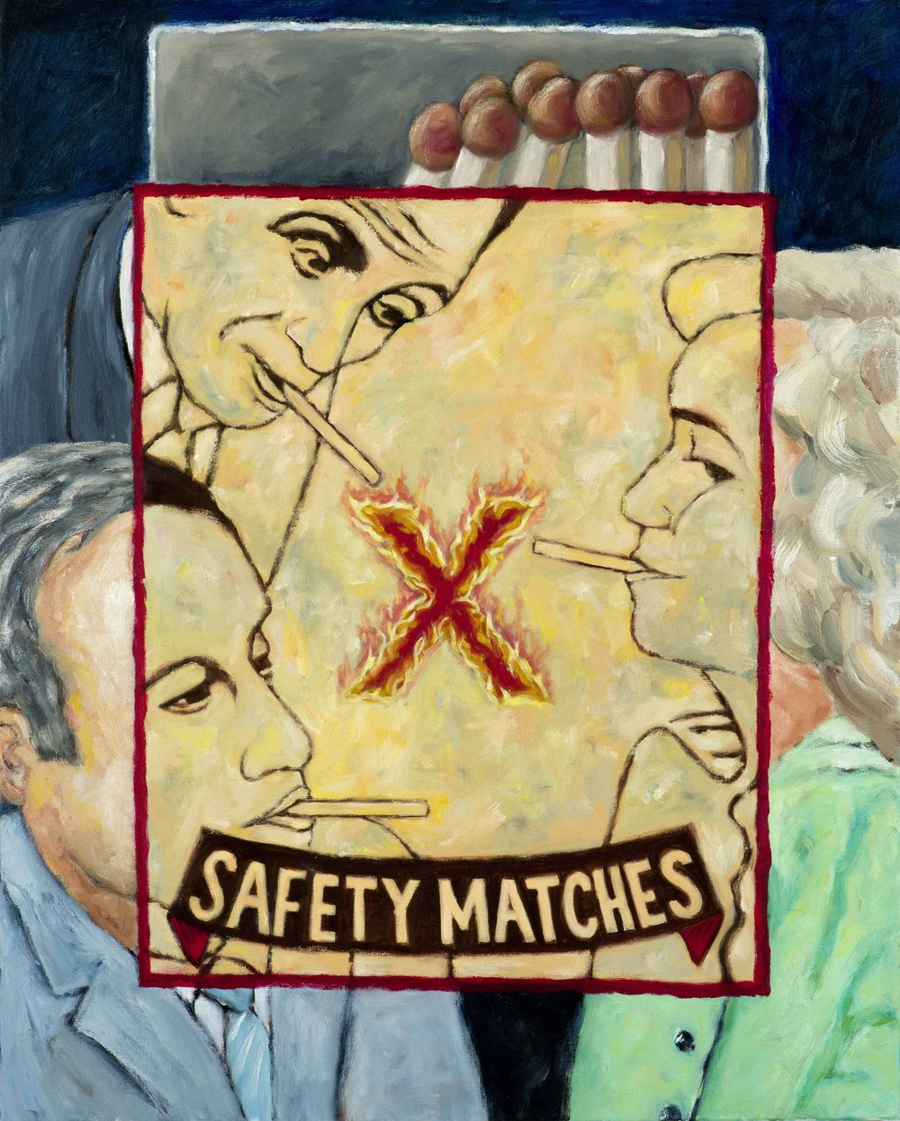Safety matches   2017  oil on canvas  80 x 100 cm  private collection