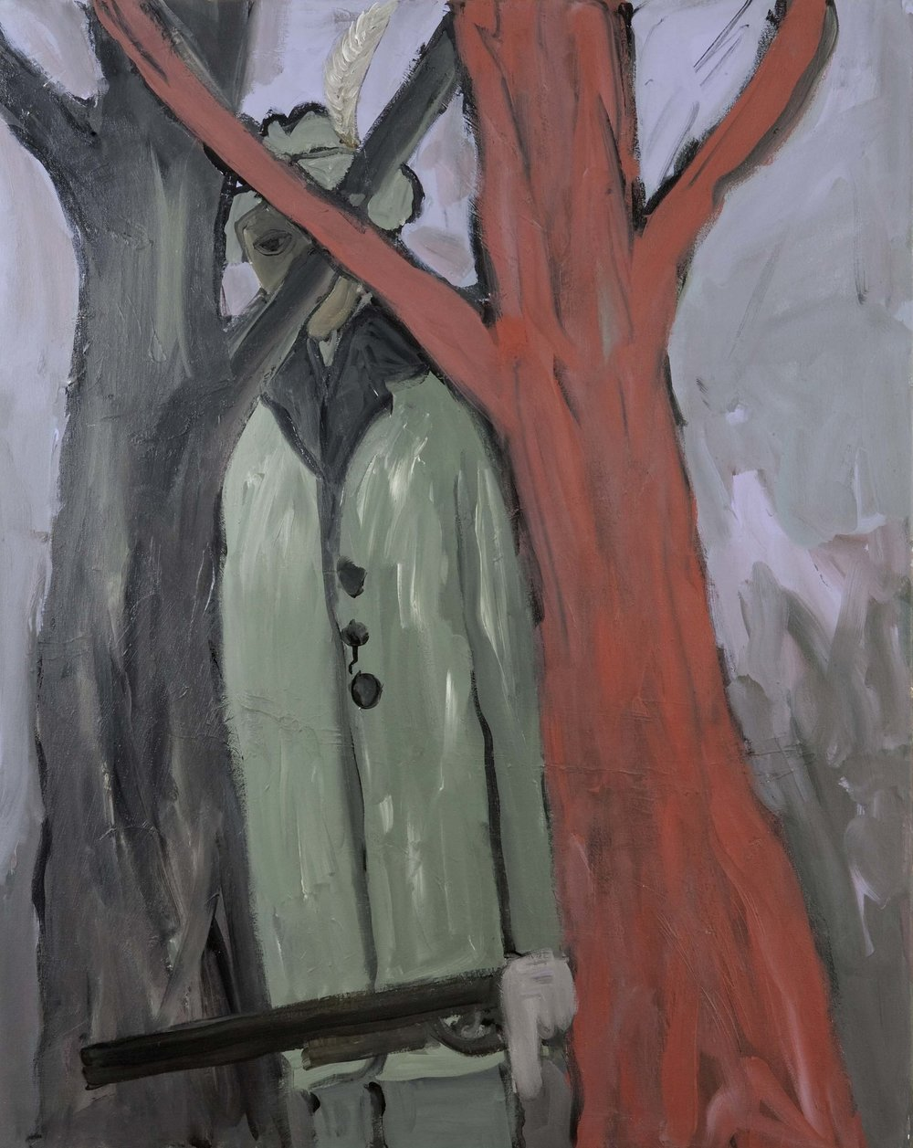 Meneer Hubertus   1993  acrylic on canvas  80 x 100 cm