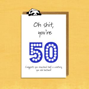 Rude 50th Birthday Card