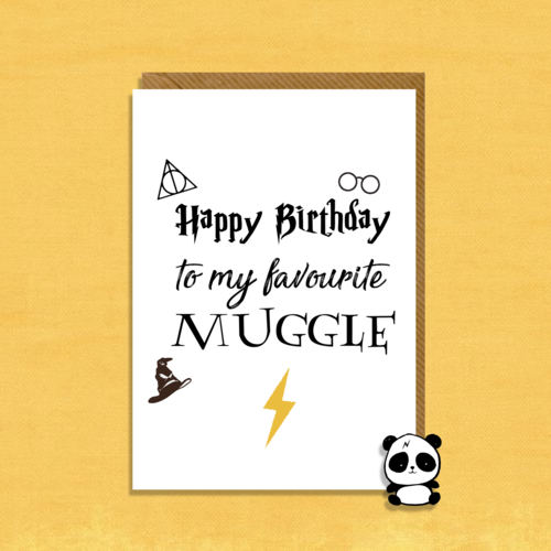 Harry Potter Inspired Happy Birthday Card
