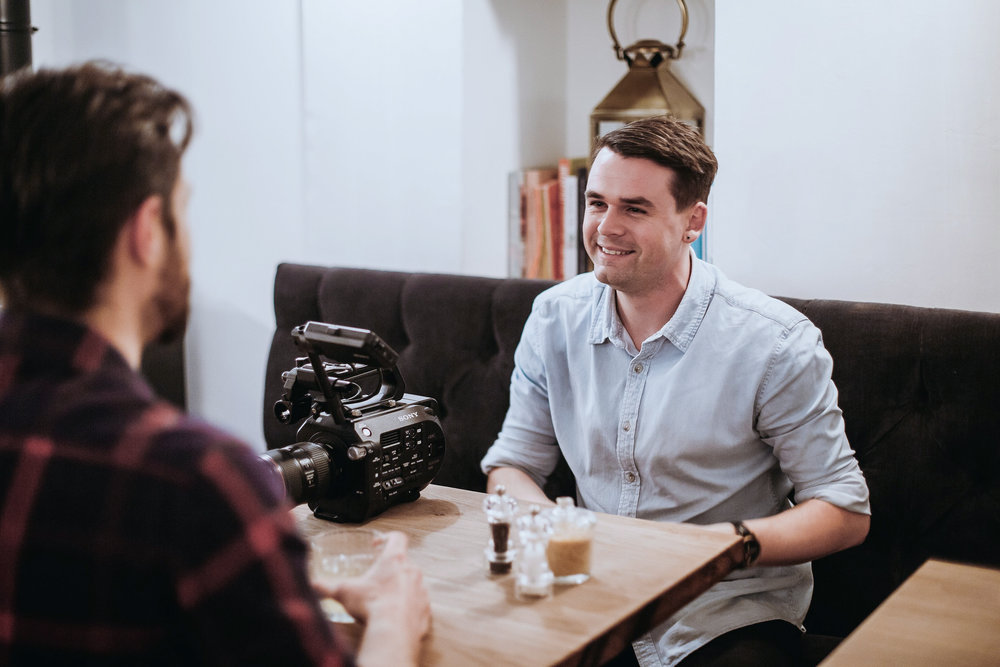 Initial meet up:  Whether you have a vision for your video already or are working from a blank canvas, give Callum your idea he'll shape it into visual content that creates a human connection; something authentic and relatable.