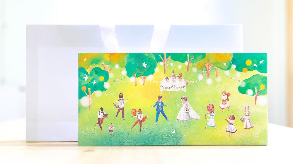壘摳手繪喜餅盒