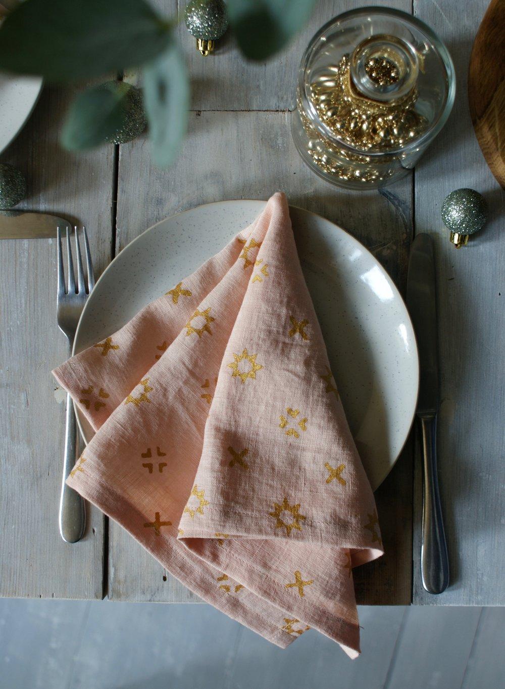 Pink Star Napkins