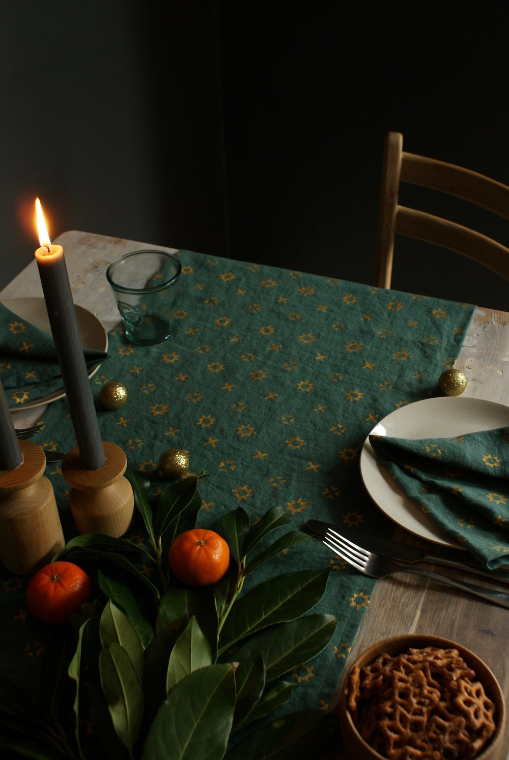 Green Star Table Runner