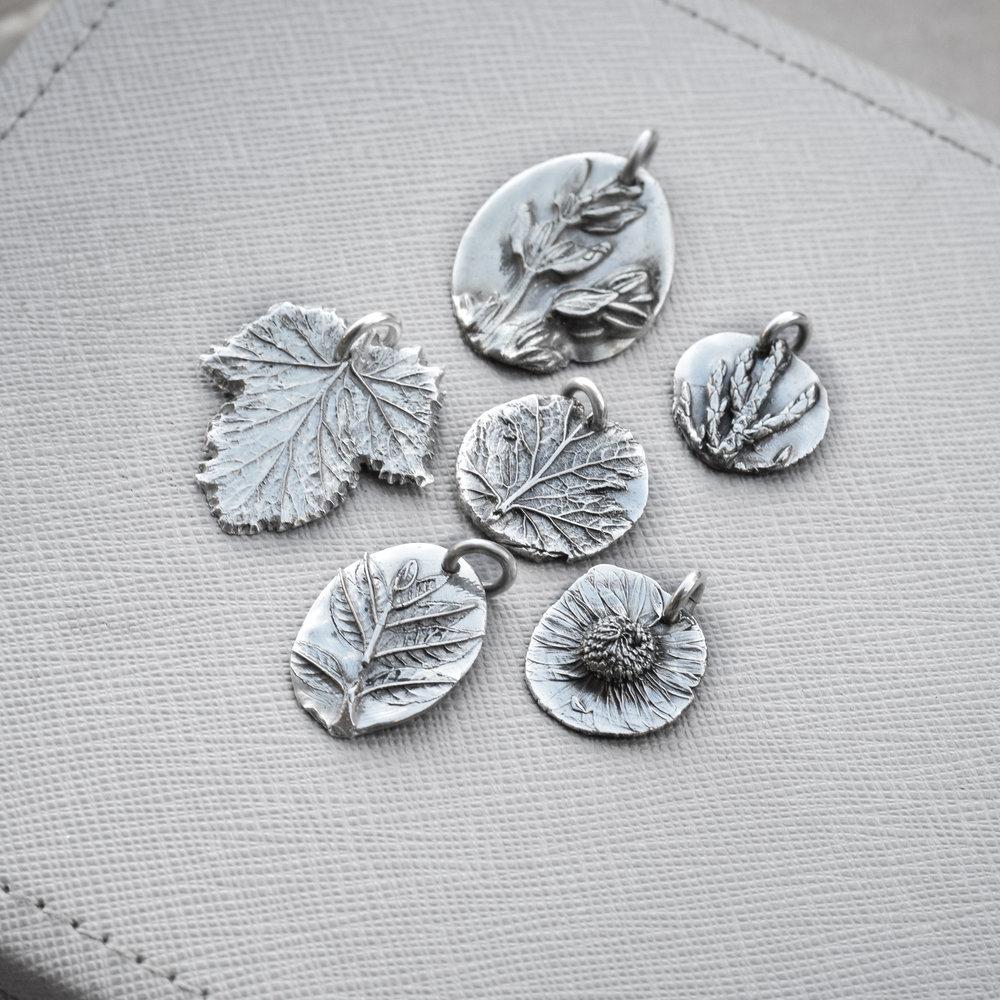 Metal clay botanical charms workshop - £95 -