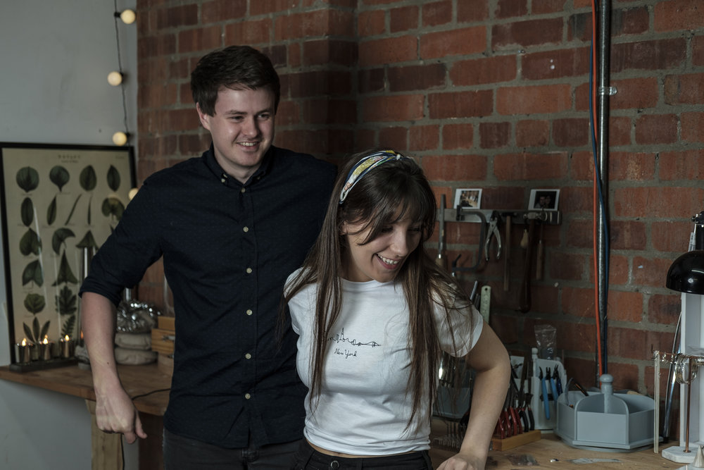 Who we are…  - We are Britt and Andrew. Britt's journey with jewellery making started in 2012 as a hobby which has slowly blossomed into what it is today, Noctua Jewellery & Workshops. Andrew joined Britt in September 2017 helping out with workshops and learning about the business.