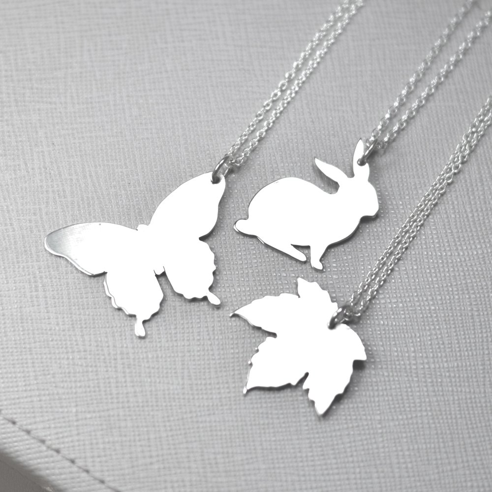 Make a silver silhouette pendant workshop - £55 -