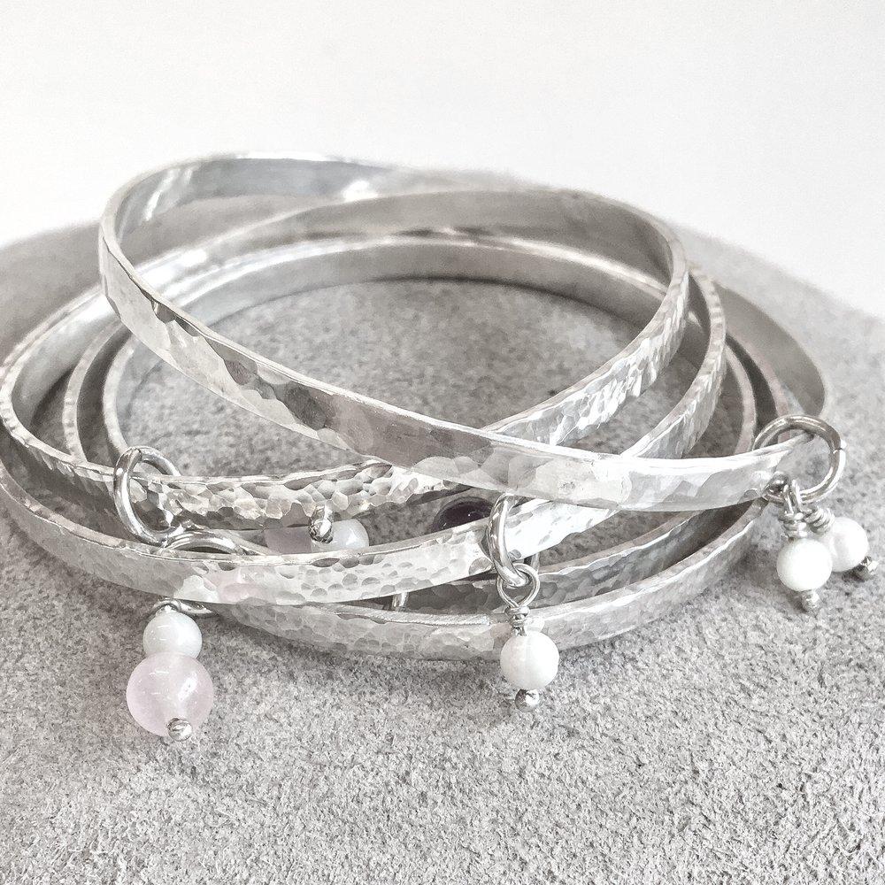 Make your own sterling silver bangle workshop - £75 -