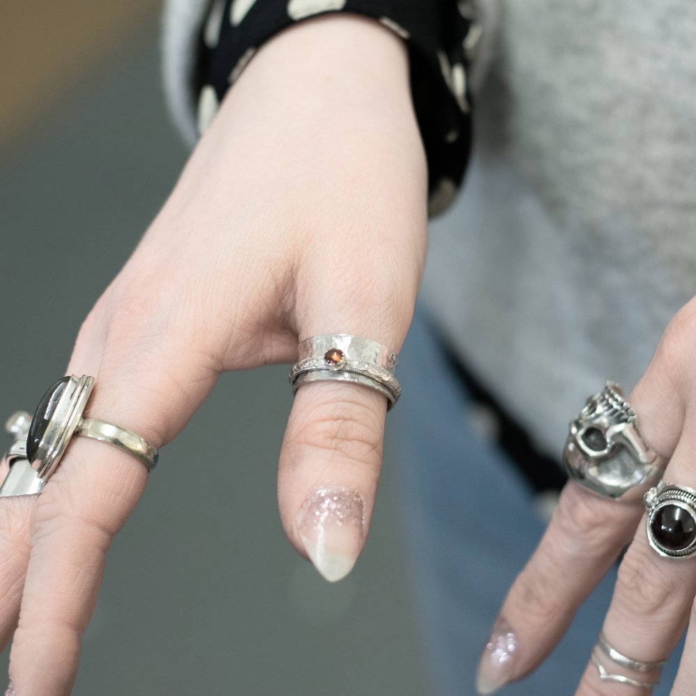 Make a sterling silver spinning ring - £110 -