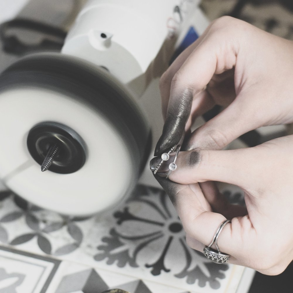 Learning to polish jewellery