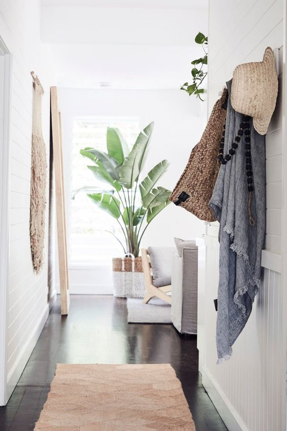 Coat Rack:   A coat rack allows guests to easily hang items, or it can purely be a styling statement.