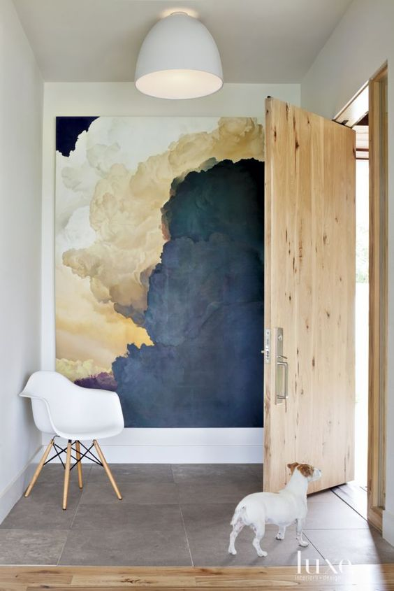 Artwork:  The best way to create a focal point in a hallway, is adding artwork or wallpaper.