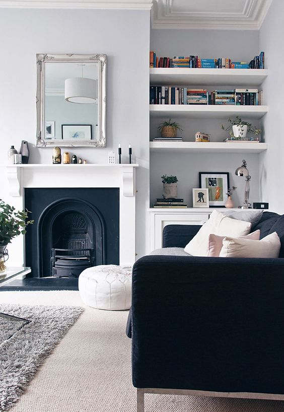Painting your fireplace a bold colour, you can get creative.