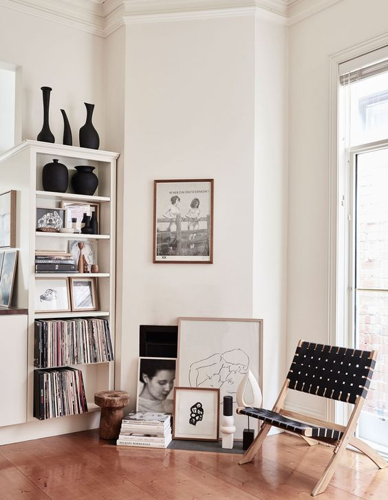 Artwork :  Most landlords don't allow permanent fixtures on walls. Finding it difficult to hang artwork or precious items. You can simply add adhesive hooks, or get creative with the way you present your artworks. Artwork does not always need to be fixed to a wall, they can sit on a mantel piece, window frames or on top of console tables.