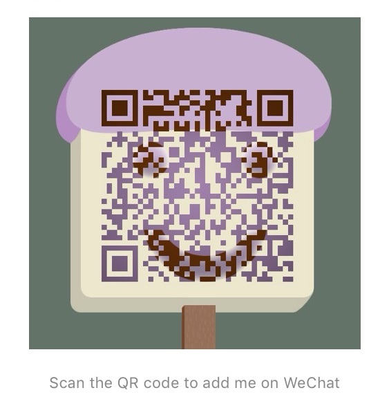 "Connect on WeChat - Scan the QR Code or find me at ""eslonlniemagazine"""