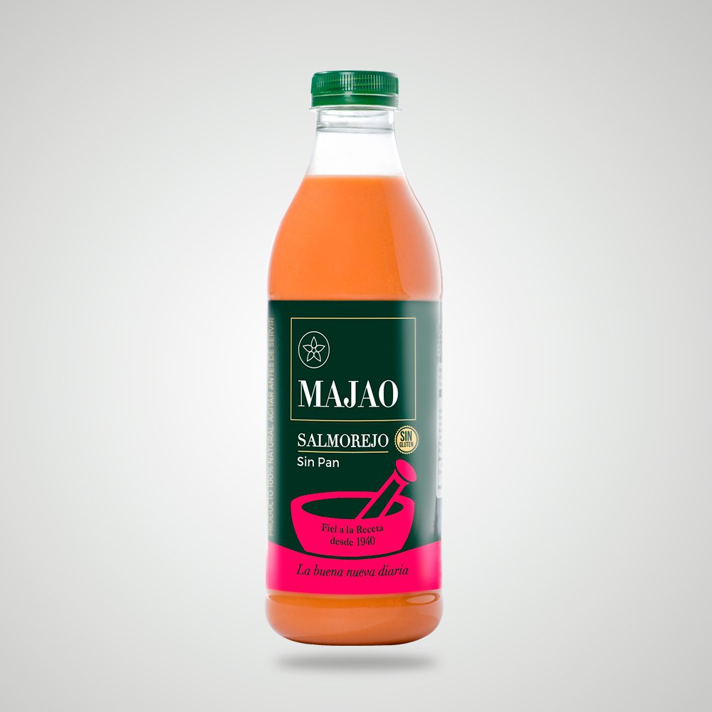 Salmorejo SUAVE - Es un alimento fresco elaborado con una receta que une los ingredientes tradicionales de calidad y el aderezo preciso, obteniendo un resultado fino, digestivo y agradable; un éxito garantizado en compañía de cualquier guarnición.