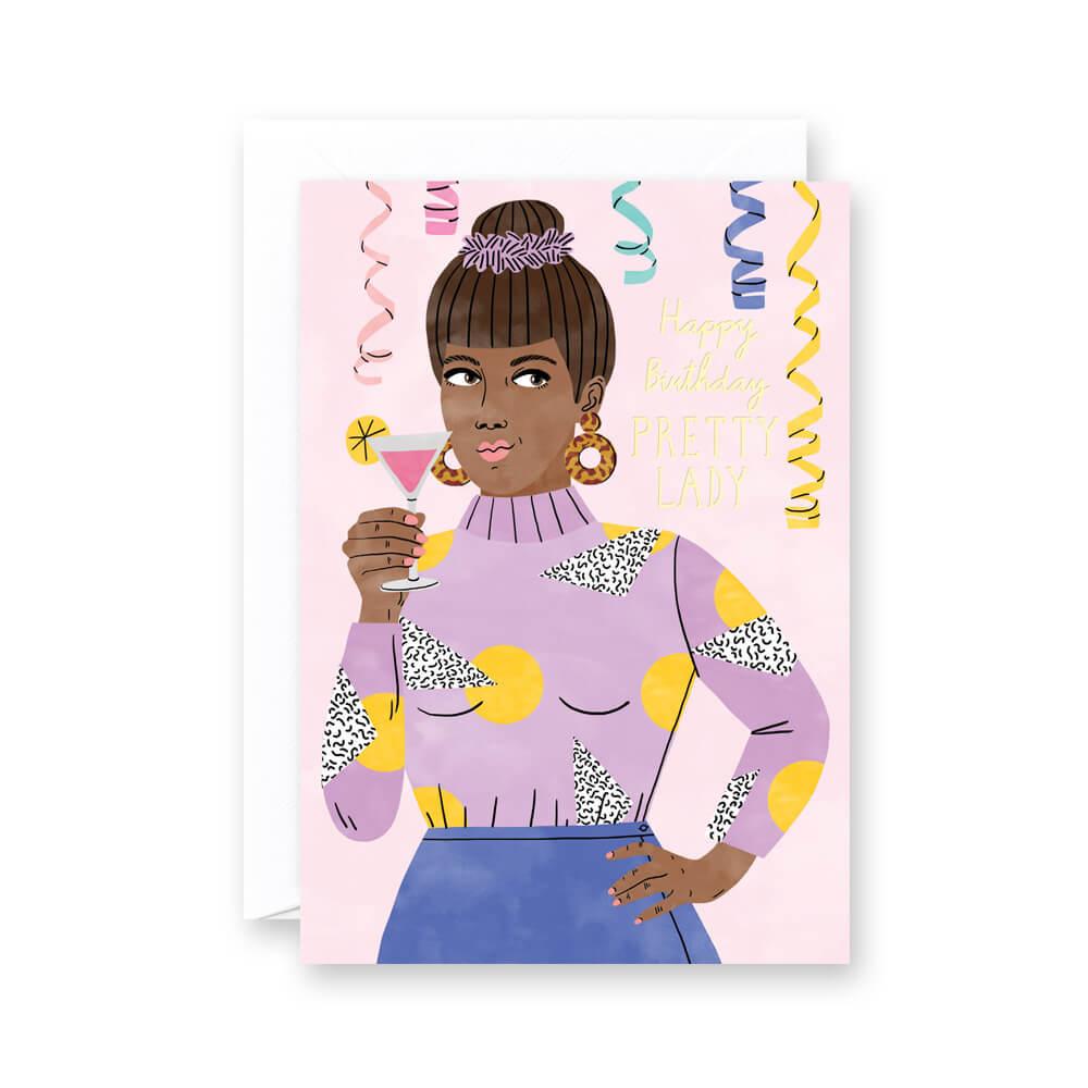 Happy Birthday Lady Card Bodil Jane