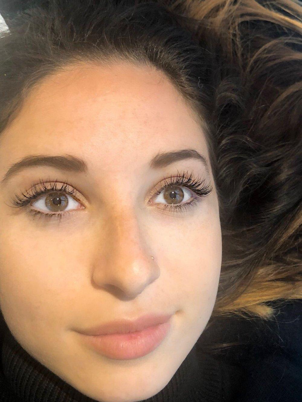 Natural eyelash extensions