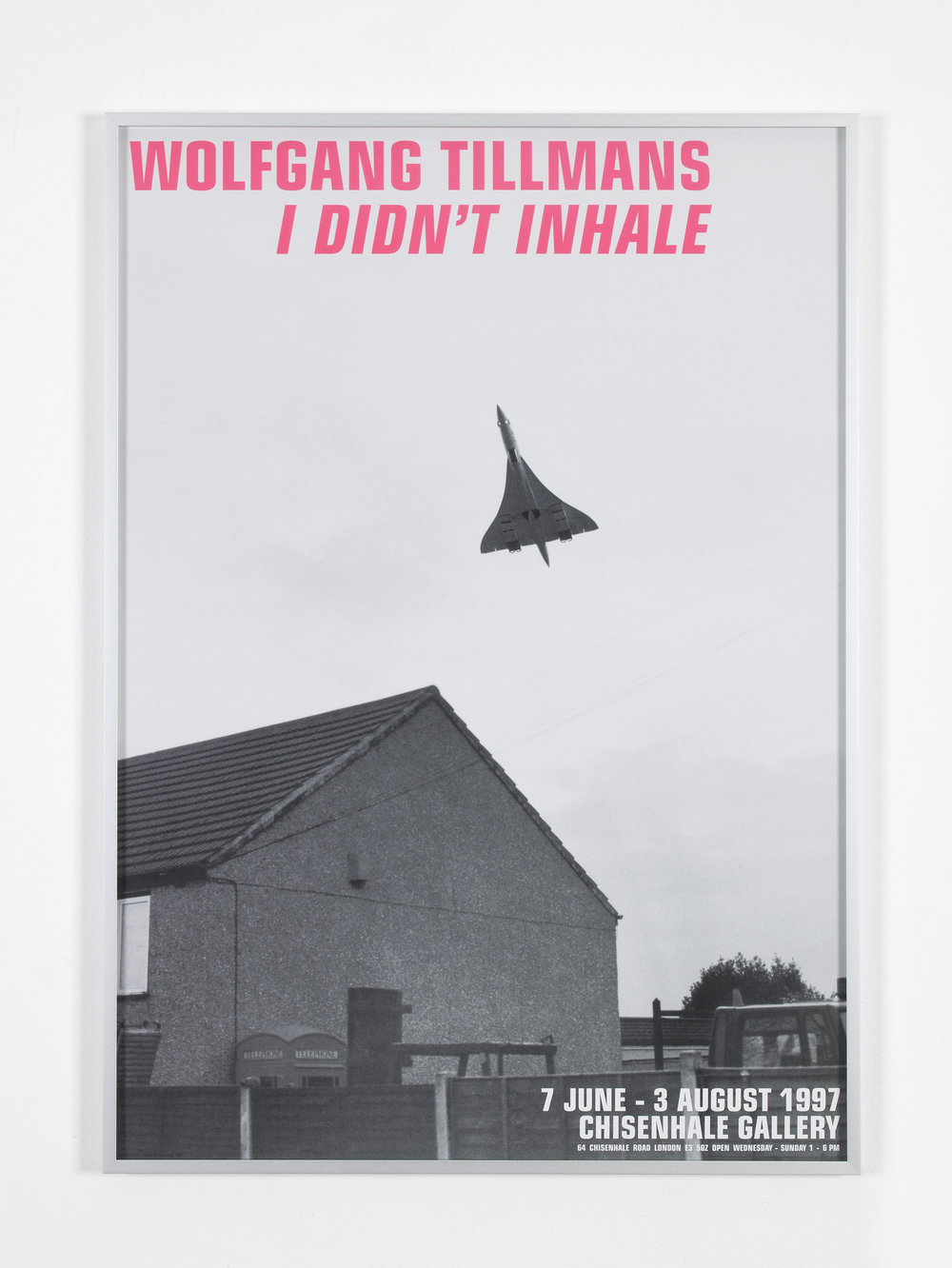 Wolfgang Tillmans,   Chisenhale Poster  , 1997  Reprinted 2017, Offset print  Edition of 500 with Typography by Scott King