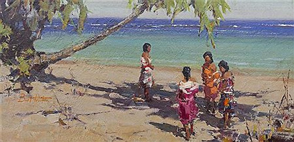 South Pacific, 15 x 30, oil on board