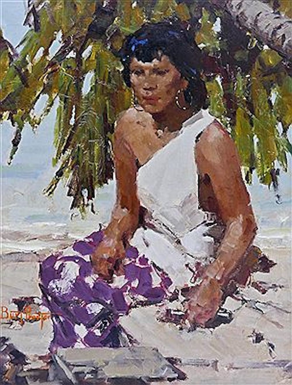Under the Palm, 24 x 18, oil on board