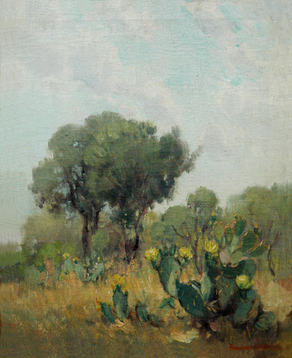 *Sold* Yellow Cactus, 20 x 16, oil on canvas, 1929