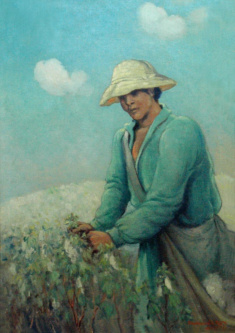 Cotton Picker, 34 x 24, oil on canvas