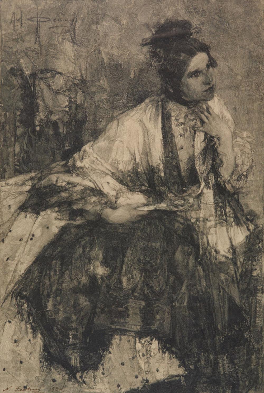 Portrait of Nadezhda Sapozhnikova, 11 x 7.50, etching
