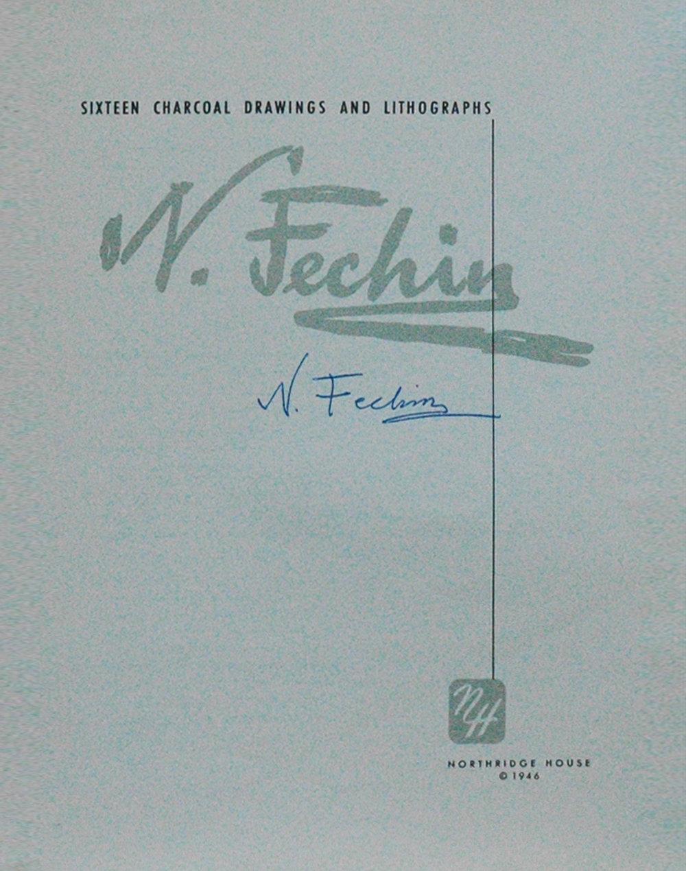 Portfolio insert signed by Nicolai Fechin