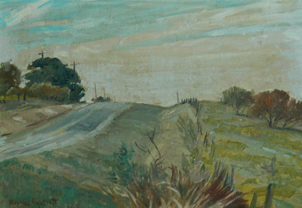 Road through the Field, 9 x 12, oil on canvas
