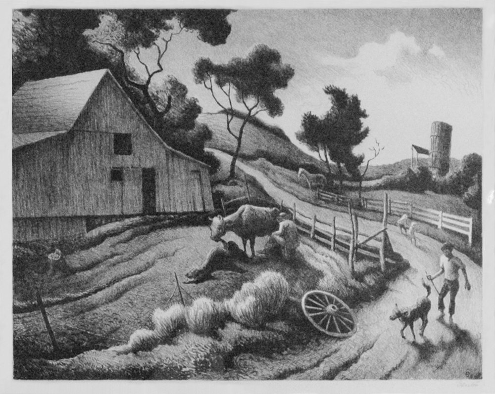 The Farm, 11 x 14, lithograph