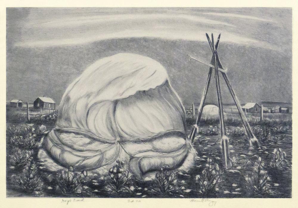 Days End, 12 x 16.5, lithograph