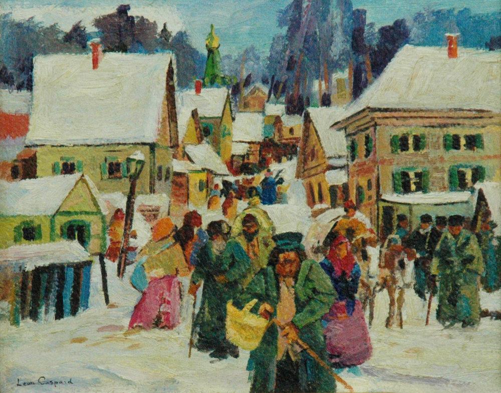 Siberian Village in Winter, 8 x 10, oil on panel