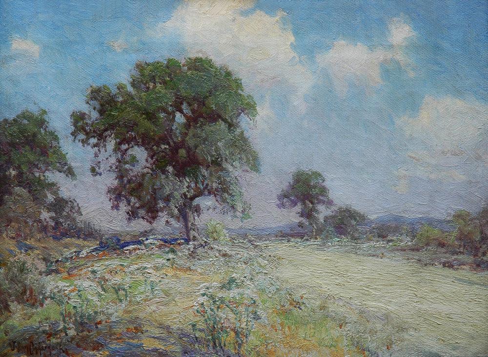 Dusty Road, 12 x 16, oil on canvas, signed LL Julian Onderdonk