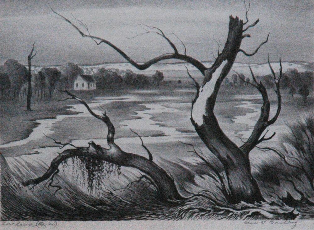 Low Land, 9 x 12, lithograph