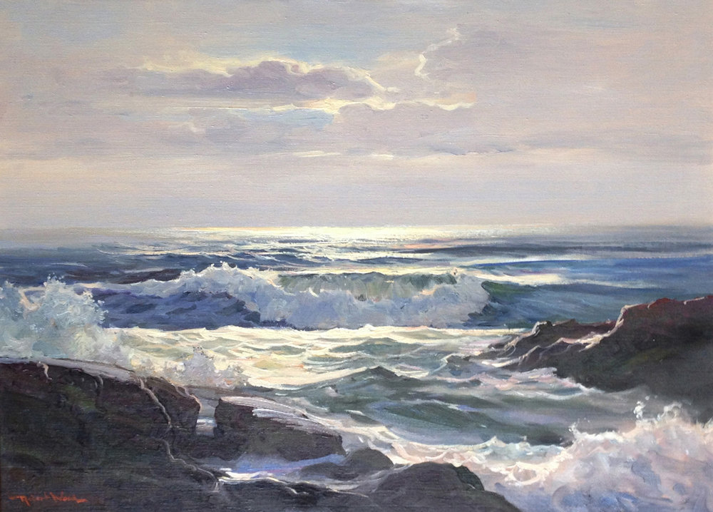 Hightide, 25 x 30, oil on canvas