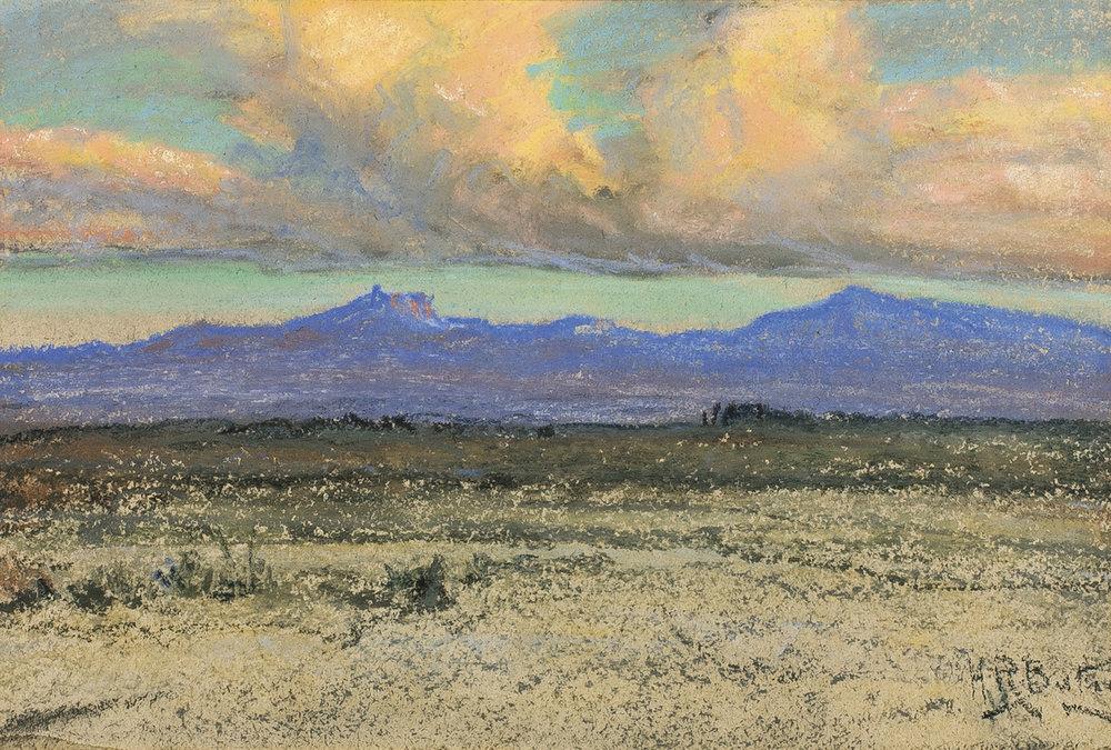 Southwest Landscape, 6 x 9, pastel