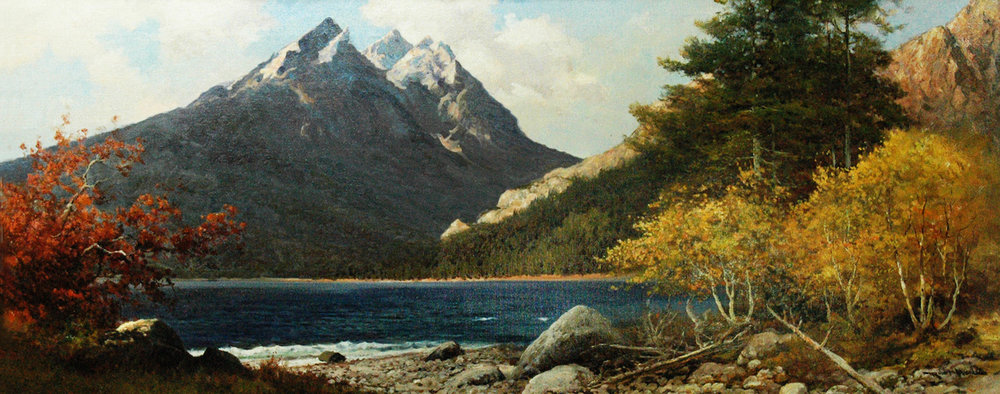 *Sold* A Teton Autumn, 24 x 59, oil on canvas