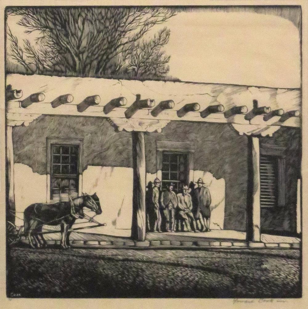 Palacio Real, 8 x 8, woodcut 75 of 75