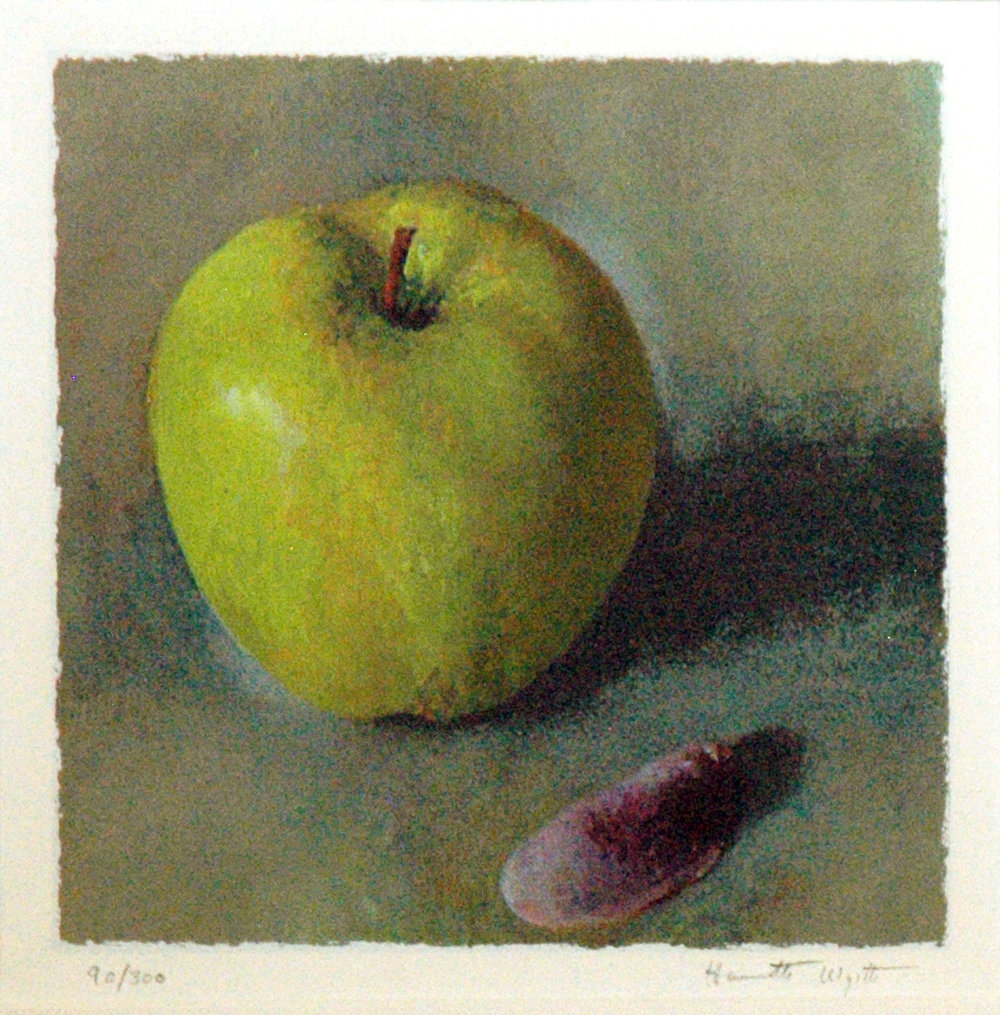 Green Apple Purple Shell, 8 x 8, Serigraph #90 of 300