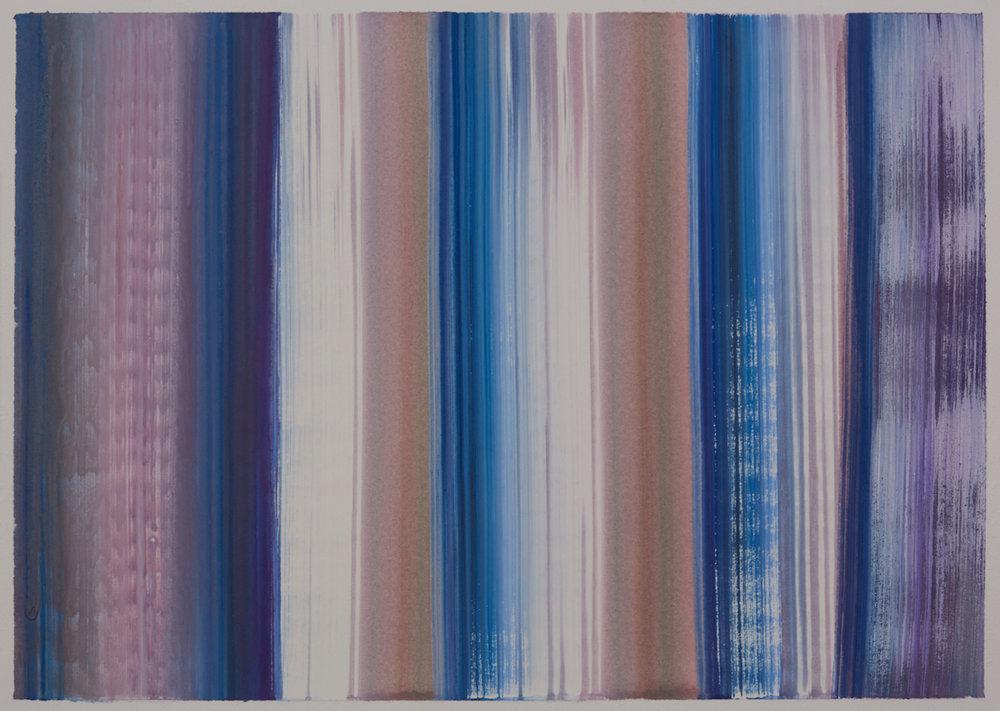 Benevolent Sunrise 11, 9 x 12 watercolor on paper