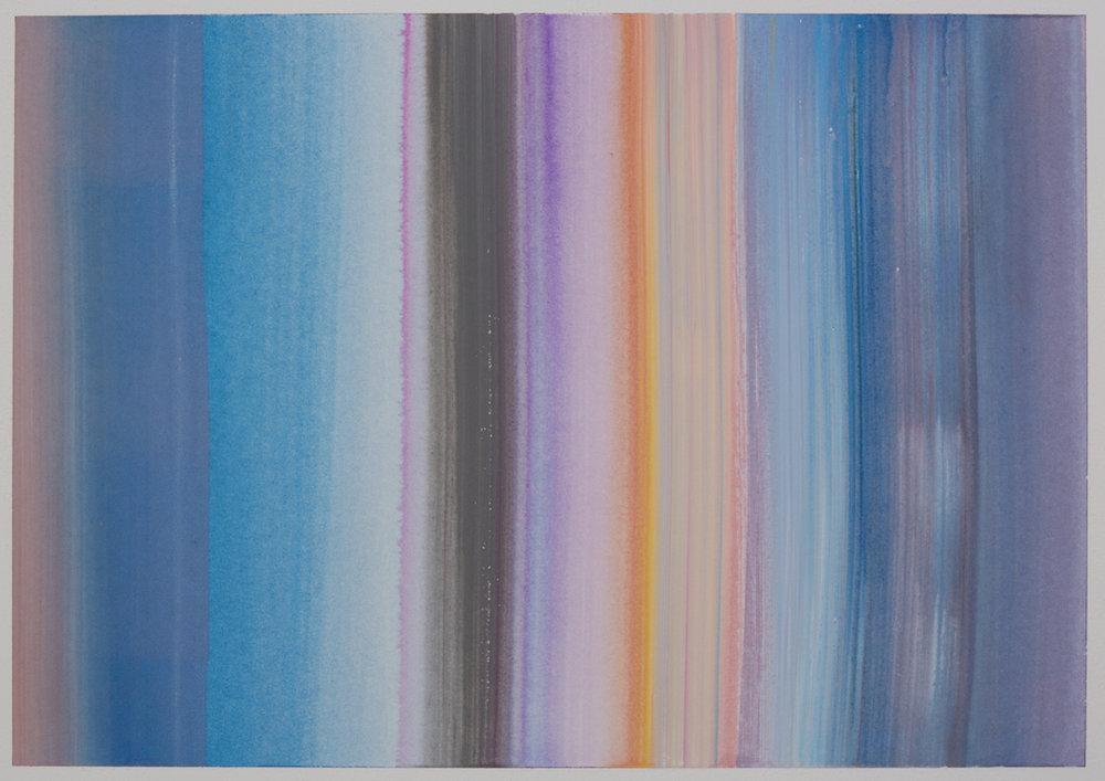 Benevolent Sunrise 19, 9 x 12 watercolor on paper